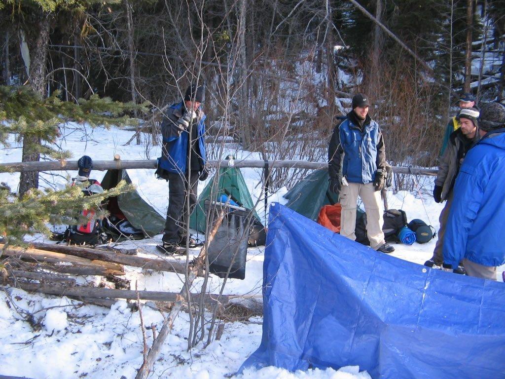 Tarp shelter for survival