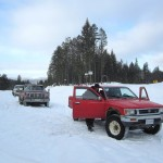 BC forest road winter conditions