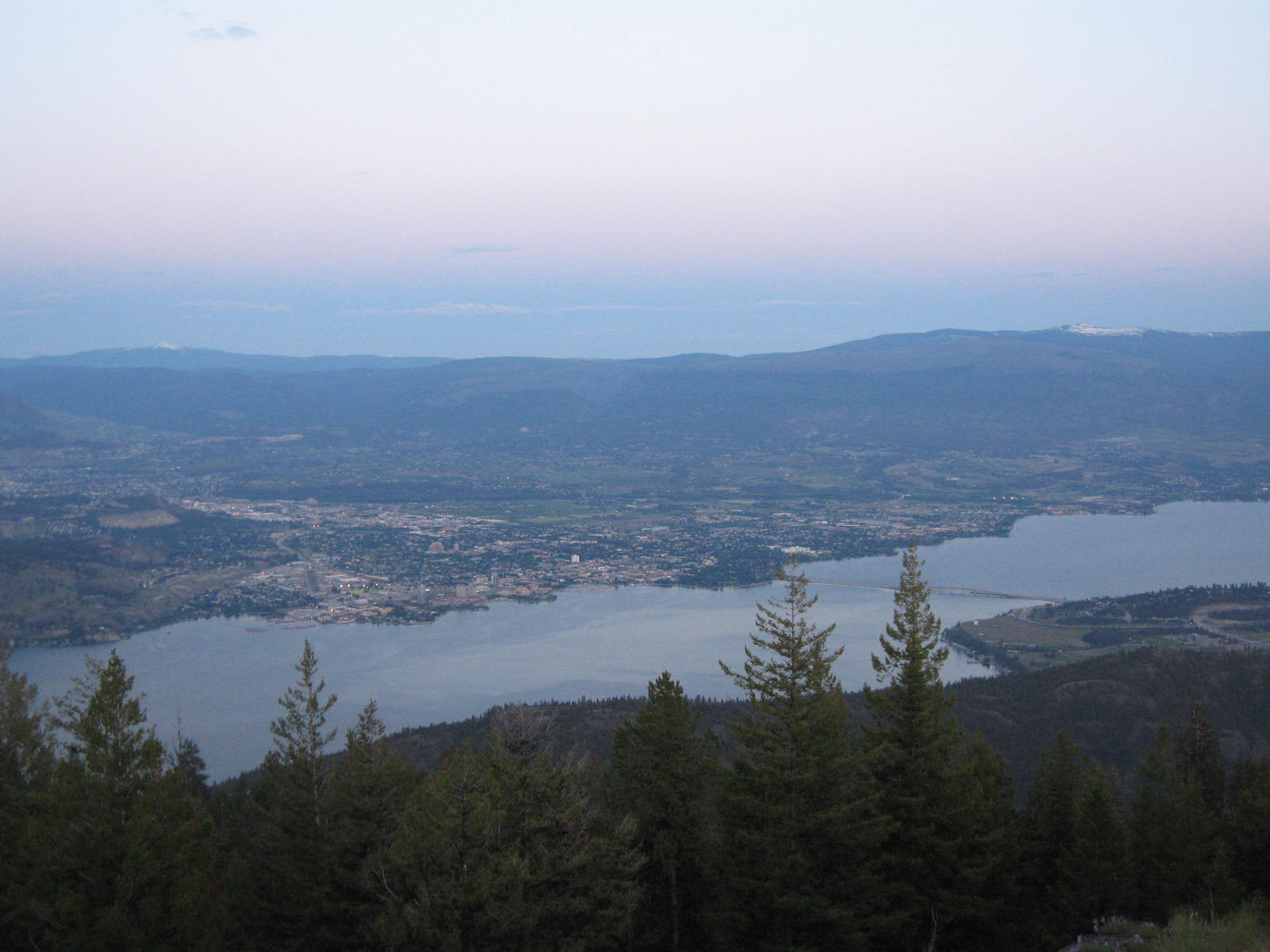 Lake Okanagan view from Mount Hayman