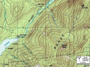 image of a typical topography map