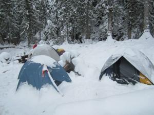 Halfway Hotsprings Winter Camp. December camping near Nakusp BC.