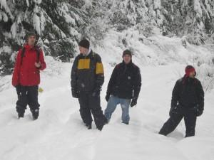 Snowing on the Halfway Hotsprings Trek