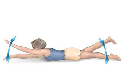 superman physiotherapy exercise